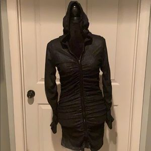 Salvage hooded corset dress